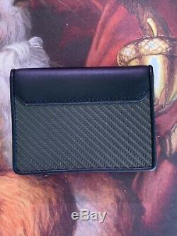 Tumi CFX SLG Gusseted Card Case WALLET Carbon Black Holder Unused