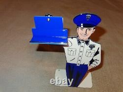 Vintage Ford Genuine Parts 12 Metal Business Card Holder Car Gasoline Oil Sign