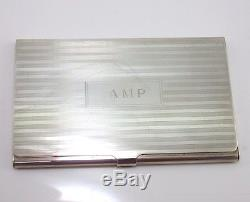 Vintage Tiffany & Co. Sterling Silver Business Card Case Holder QX