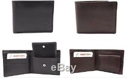 Wholesale Lot of 50 Men's Leather Bifold Wallets ID Case, Business Card Holder